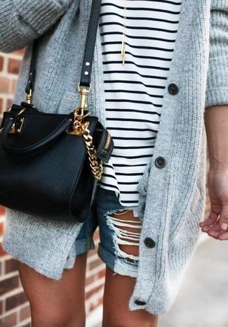 Red Zip Front Shoulder Bag
