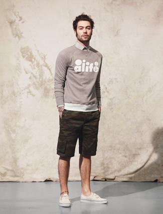 Camo Terry Drawstring Shorts