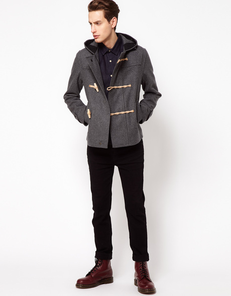 Men's Grey Duffle Coat
