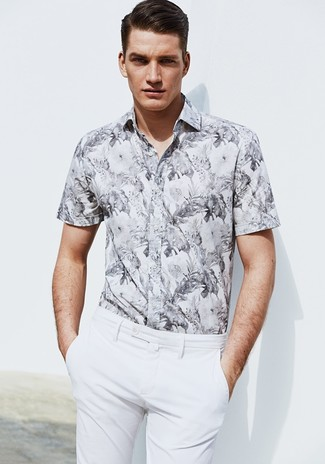 Something as simple as opting for a floral short sleeve shirt and white dress pants can potentially set you apart from the crowd.