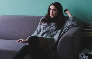 Cotton Shaker Sweater Dress