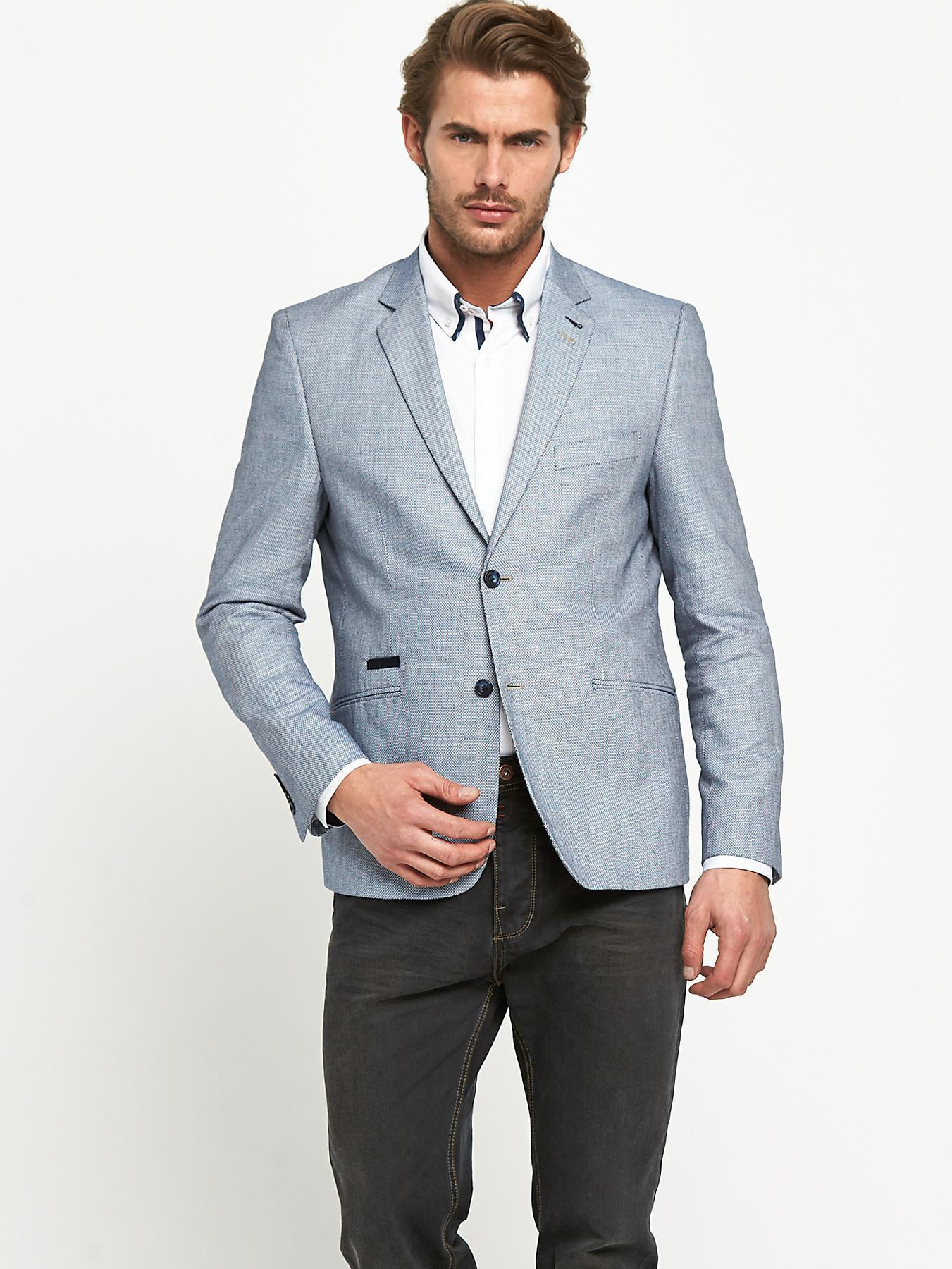 Grey Linen Blazer | Men's Fashion