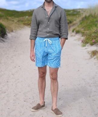 Blue Octopus Swim Shorts