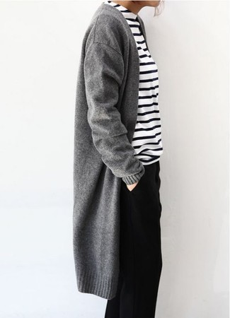 Sonya Wool And Cashmere Open Cardigan