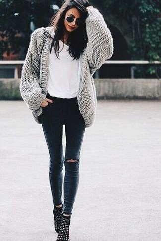 Open Front Shawl Cardigan