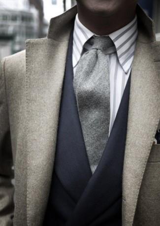 Non Iron Milano Fit Tonal Stripe Dress Shirt