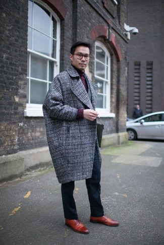 Single Breasted Check Coat