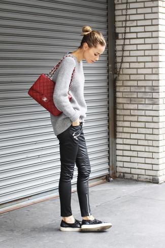 Quilted Shoulder Bag In Red