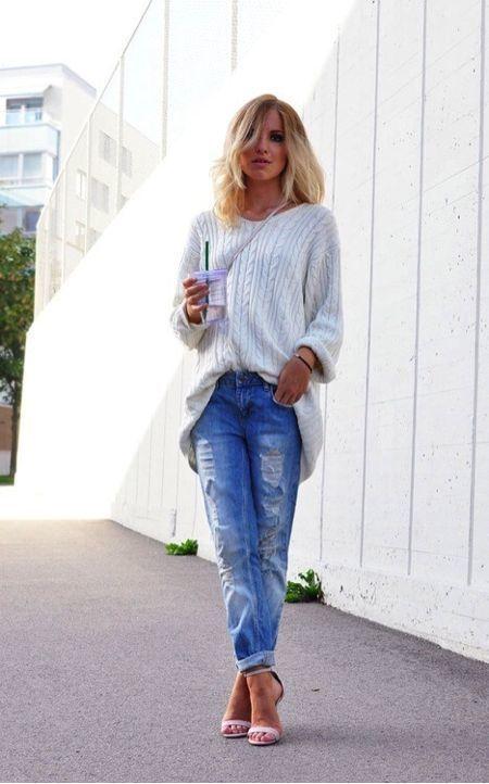 How to Wear a Grey Oversized Sweater (192 looks) | Women's Fashion