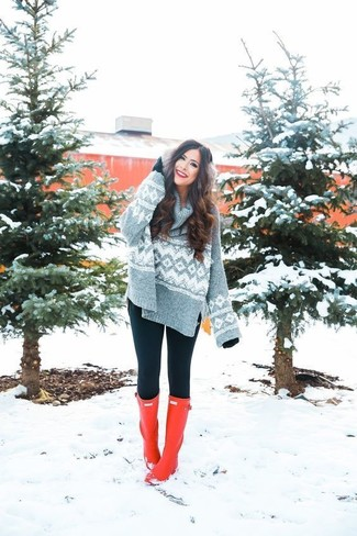 Show off your playful side in a Stussy women's Sweatshirts and black leggings. For a more relaxed take, grab a pair of red rain boots. Nothing like a kick-ass outfit to cheer up a dreary fall afternoon.
