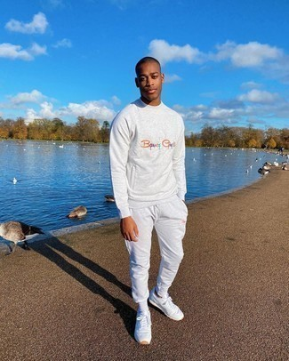 Track Suit Outfits For Men: Reach for a track suit for a laid-back twist on casual city combinations. You can take a more sophisticated approach with footwear and introduce a pair of white athletic shoes to the mix.