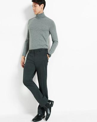 Grey Wool Trouser