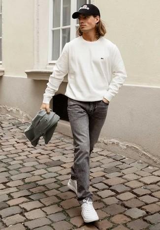 Light Grey Stonewashed Skinny Jean