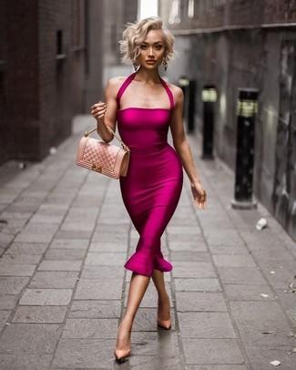 Make up fur rosa kleid