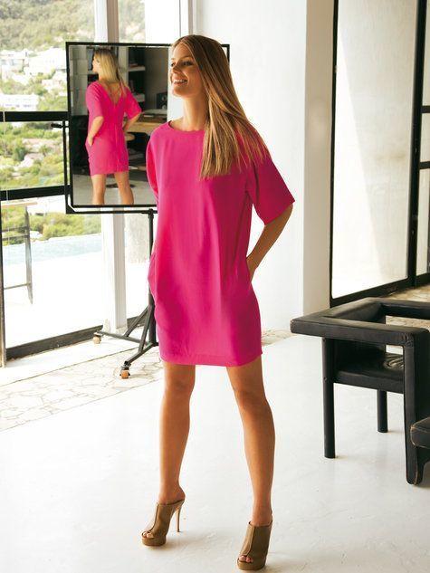 Hot Pink Casual Dress