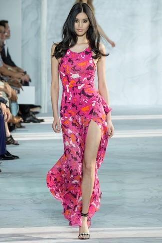 44efe3d23520 ... Women s Hot Pink Floral Maxi Dress