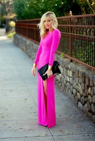 How to Wear a Hot Pink Maxi Dress (20 looks) - Women&-39-s Fashion