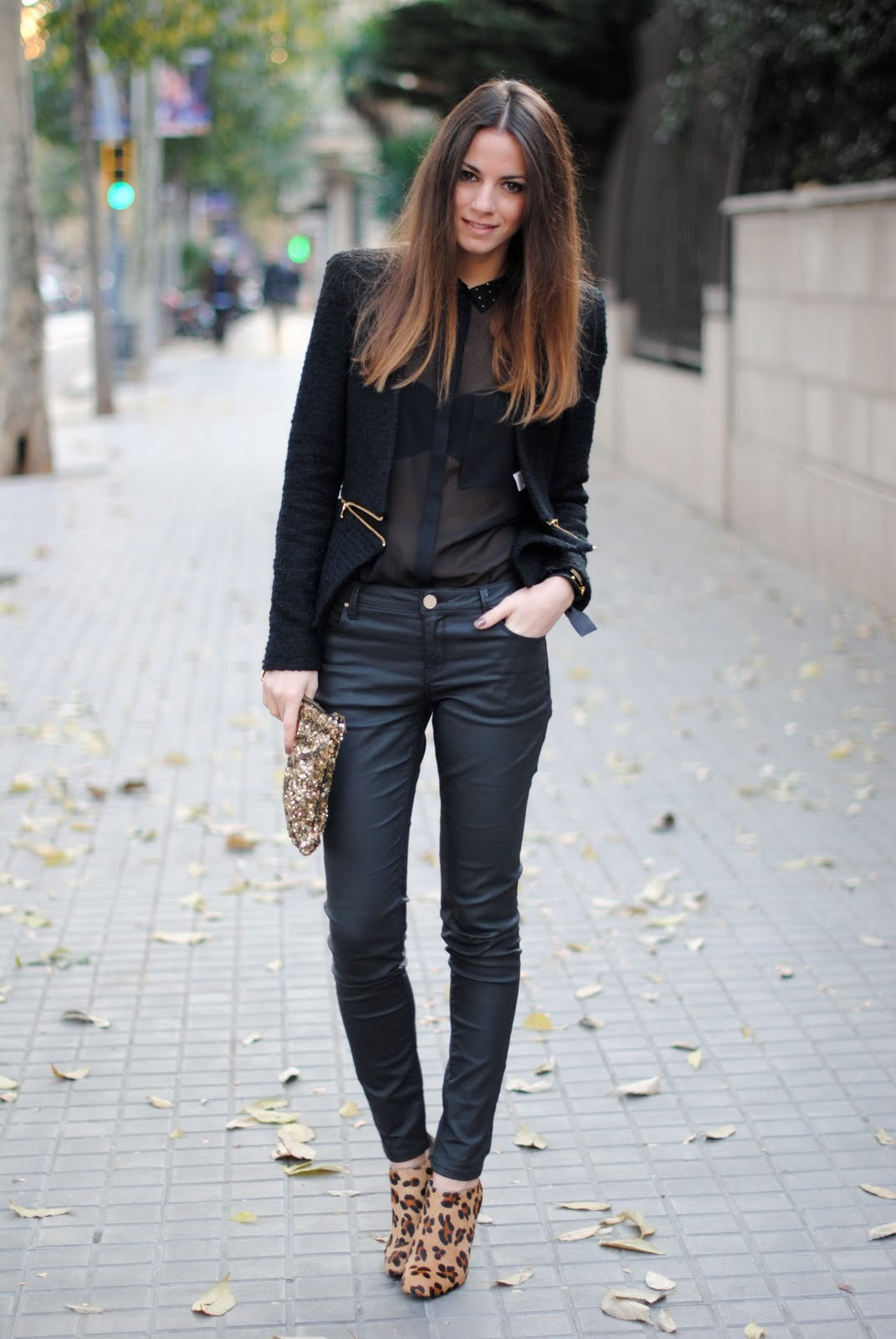 How to Wear a Black Silk Button Down Blouse (9 looks)   Women's ...