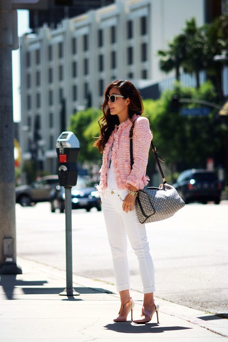 How to Wear a Pink Tweed Jacket (5 looks) | Women's Fashion