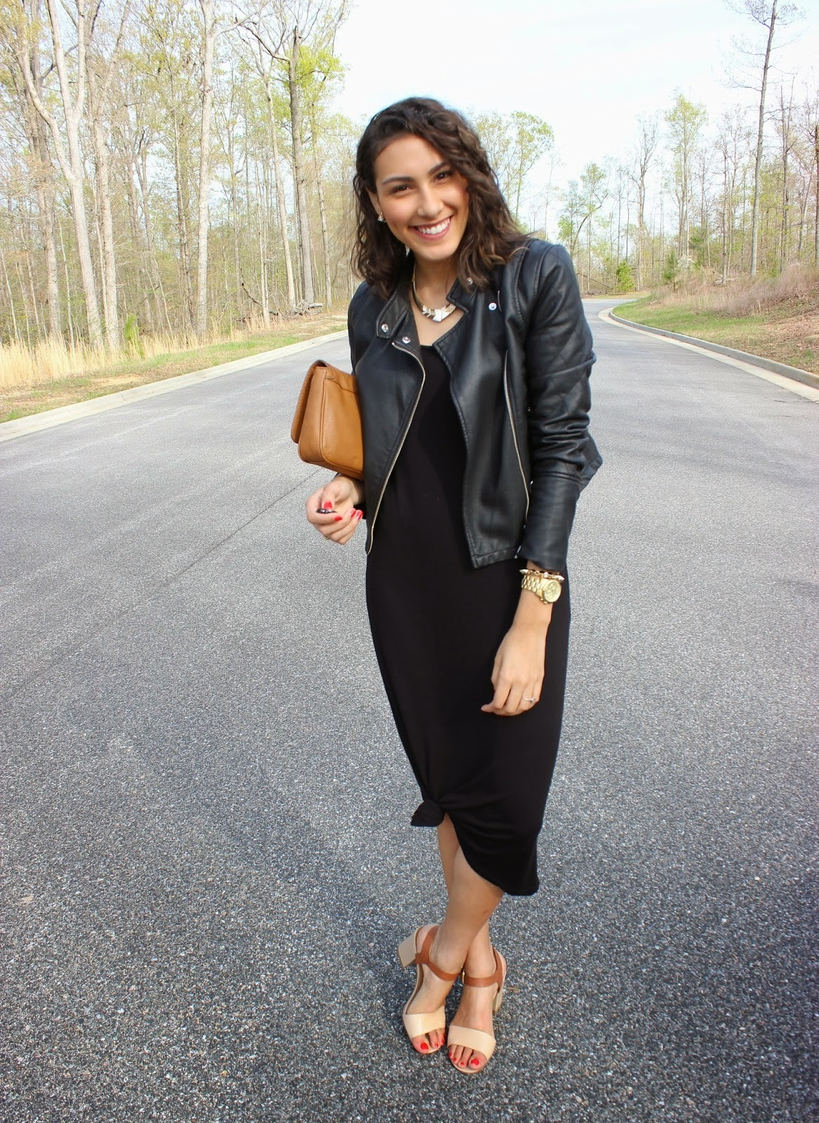 Which Maxi Dress To Wear With a Black Leather Jacket | Women's Fashion
