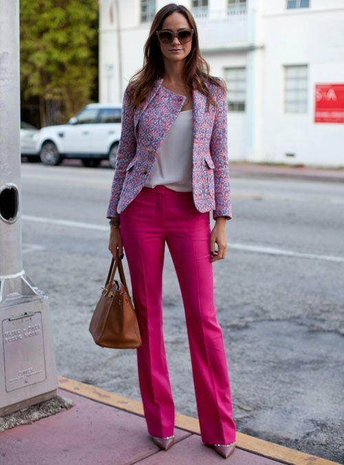 How to Wear a Pink Jacket (34 looks) | Women's Fashion