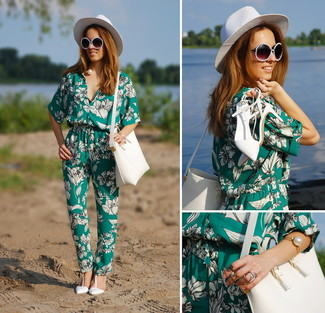 d37f2a25f0f0 Women s Green Floral Jumpsuit