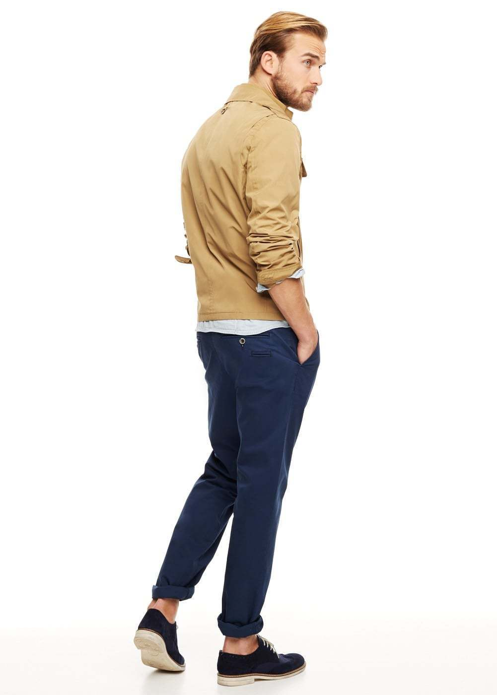 What color shoes with khaki pants and navy blue shirt for Dress shirts that go with jeans