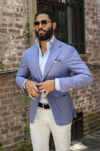 Powder Blue Blazer Mens