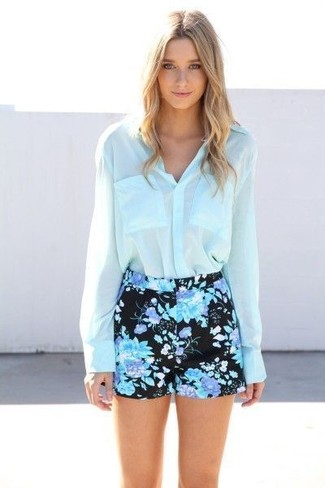 Sherri Floral Embroidery Shorts