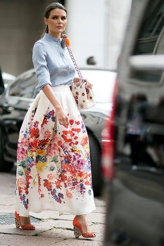 How to Wear a Floral Maxi Skirt (12 looks) | Women's Fashion