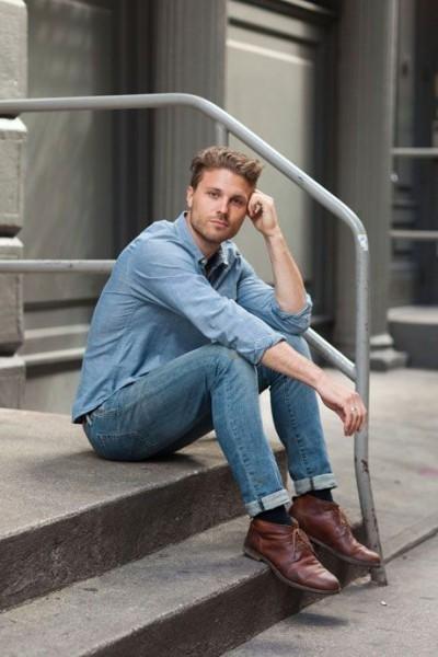 Dark Brown Leather Desert Boots | Men's Fashion