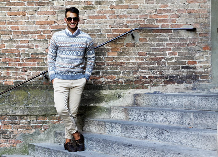 How to Wear a Fair Isle Crew-neck Sweater (74 looks) | Men's Fashion