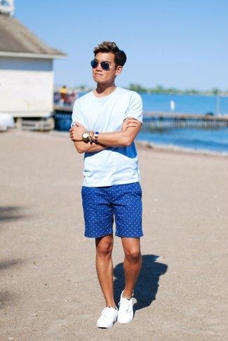 How to Wear Blue Shorts (123 looks) | Men's Fashion