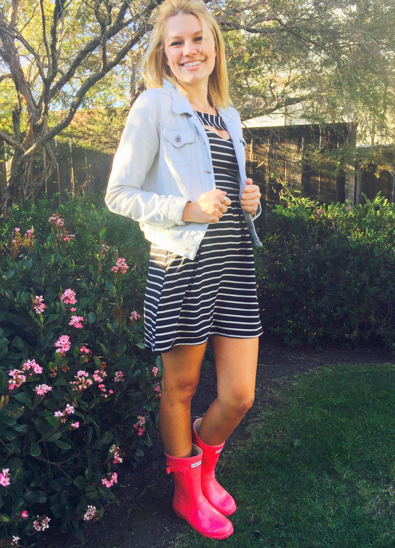 Horizontal Striped Casual Dress | Women's Fashion