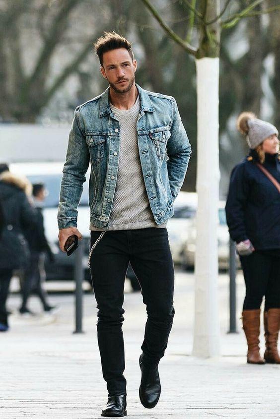 Light Blue Denim Jacket | Men's Fashion