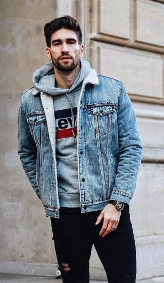 How To Wear A Light Blue Denim Jacket For Men 97 Looks Outfits