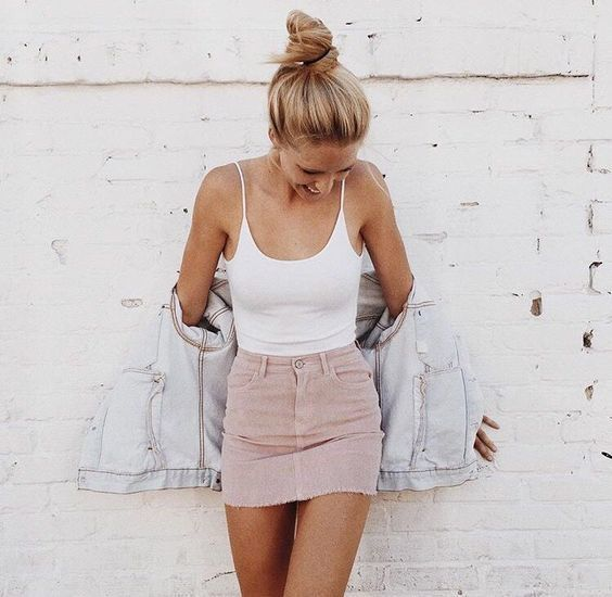How to Wear a Pink Mini Skirt (20 looks) | Women's Fashion