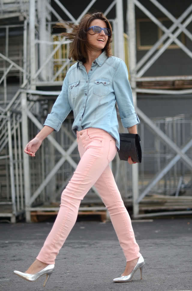 How to Wear Pink Skinny Jeans (11 looks) | Women's Fashion