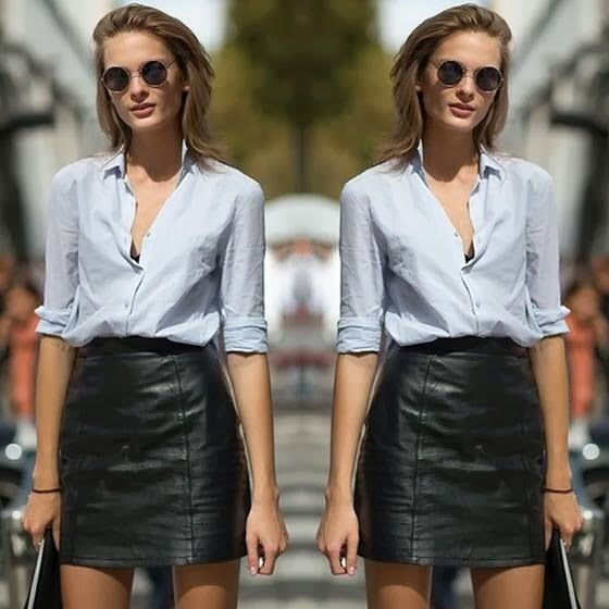 How to Wear a Black Leather Mini Skirt (143 looks) | Women's Fashion