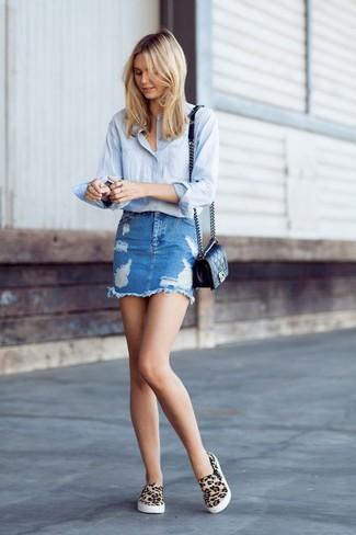8ea6bd7286425 Women s Light Blue Dress Shirt