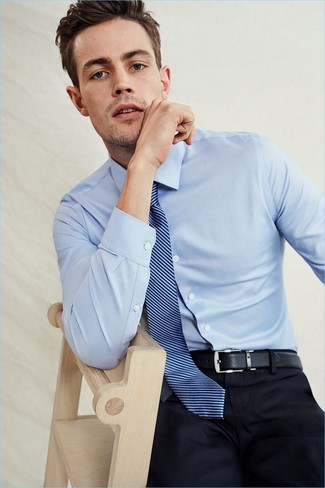 Smartcarewrinkle Free Traditional Fit Pinpoint Dress Shirt Light Blue 185 36