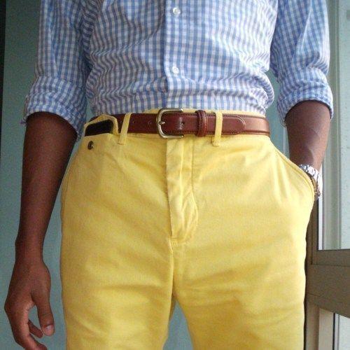 Yellow Khaki Shorts Hardon Clothes