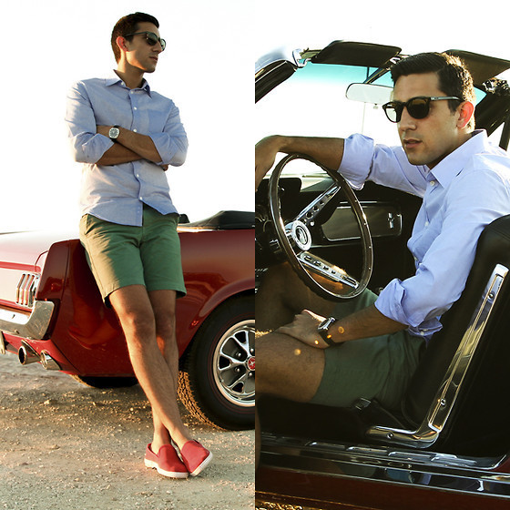 How to Wear Green Shorts (25 looks) | Men's Fashion