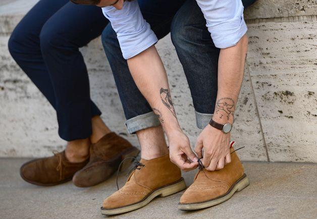 How to Wear Beige Suede Desert Boots (45 looks) | Men's Fashion