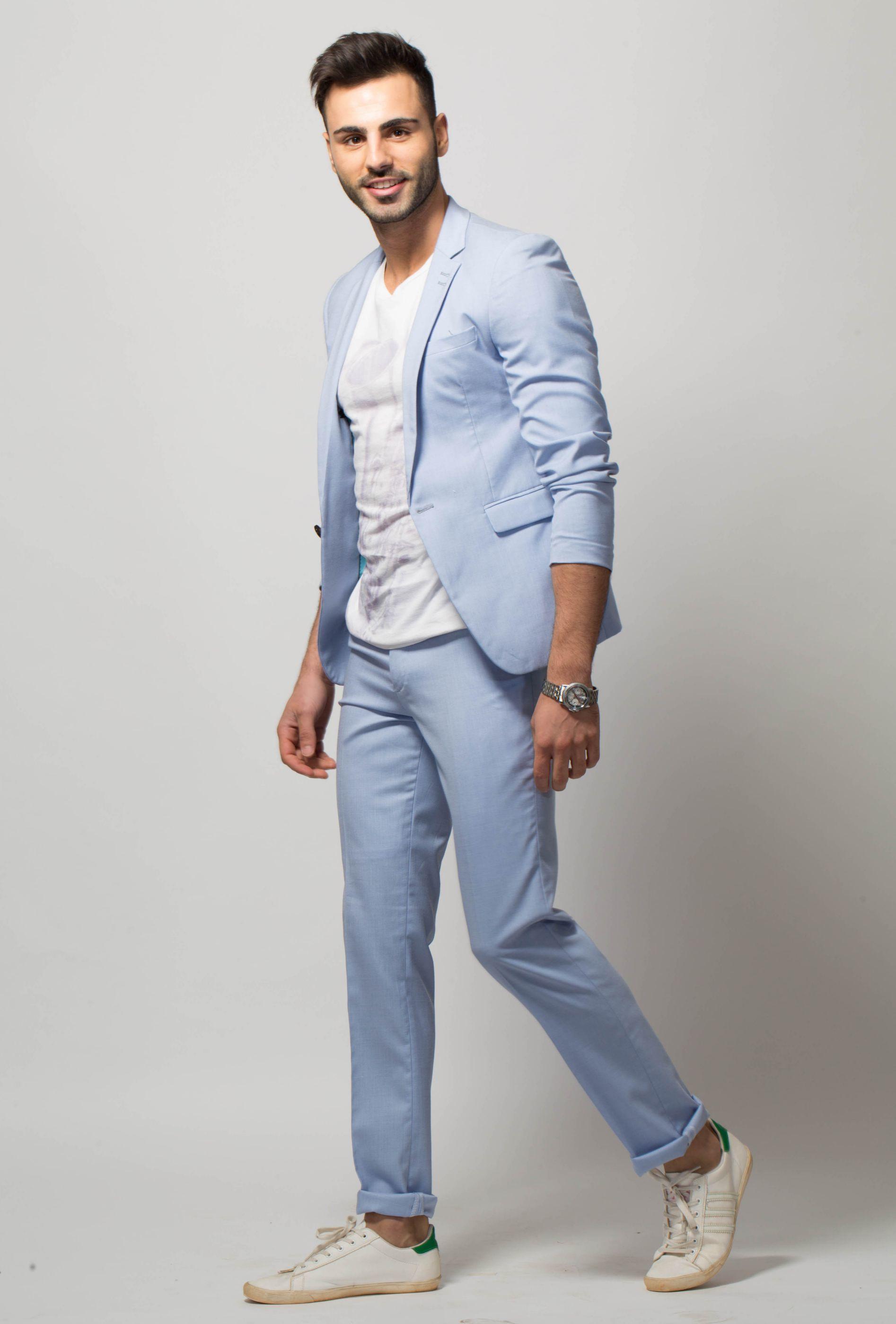 baby blue suit suit la