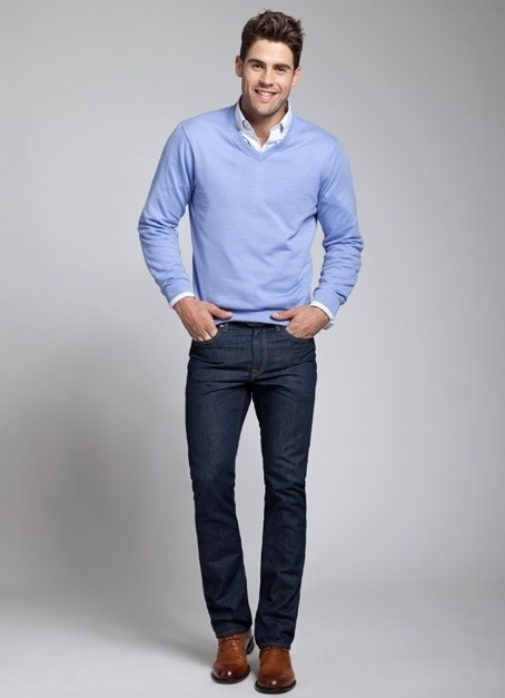 How to Wear a Light Blue Sweater (37 looks) | Men's Fashion