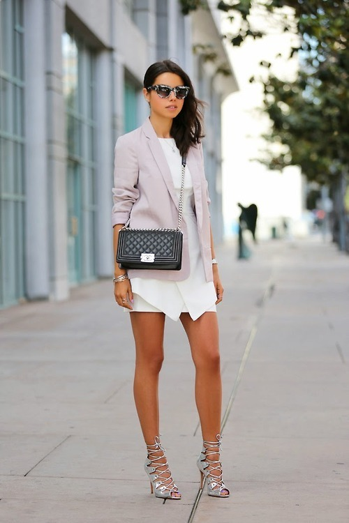White Blazer Outfit Blazer And a White Casual