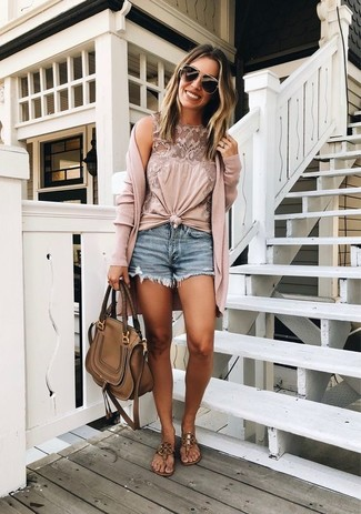 Pink Cardigan Casual Summer Outfits For Women In Their 30s