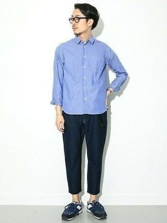 Shirt Long Sleeve Assorted Striped Performance Shirt