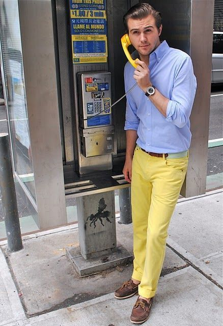 How to Wear Yellow Chinos (67 looks) | Men's Fashion
